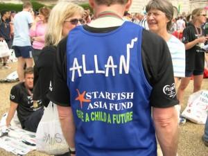 Allan, raising funds for Starfish Asia