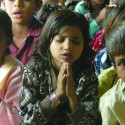 Image of young girl praying