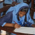 A student at the Morning Star school in Korangi