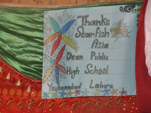 Thank you poster made by the pupils