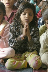 Girl, praying