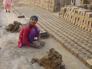 Image of a Brick Kiln worker