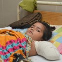 Image showing a young girl in a hospital bed