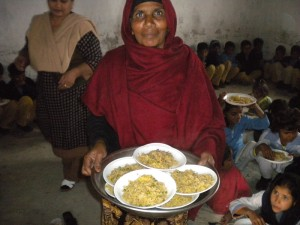Image showing food being served at the Miracle School